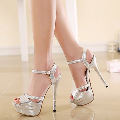 LvYuan sandali estivi scarpe caduta del club ufficio sintetico primavera&partito carriera&abito da sera fibbia in oro argento Silver