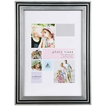 """Art Deco Style Black Silver Photo Picture Frame 8""""x10"""""""