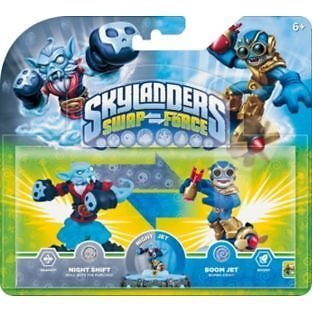 'Skylanders Swap Force' Exklusiver Doppelpack 'Night Shift' & 'Boom Jet' GB Lager [Xbox One, PS4, Xbox 360, PS3, Wii, Wii U & Nintendo 3DS]