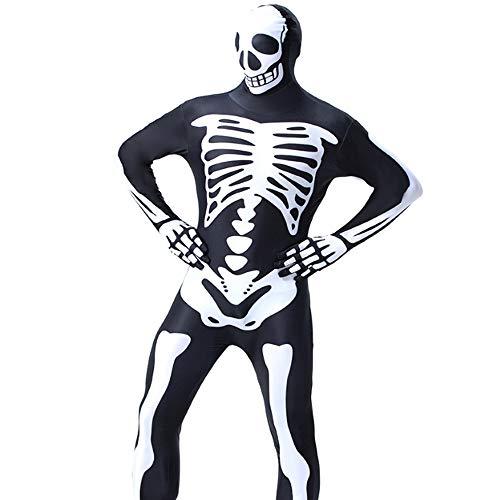 Fliegende Kostüm Skelett - ZSTY Rollenspiele, Verformung Anzug Horror Halloween Skelett Parodie Kostüm Ghost Festival Kleidung Halloween Kostüm,M