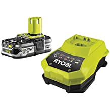 Ryobi RBC18L15 ONE+ 1.5 Ah Lithium Plus Battery and One Hour Charger, 18 V