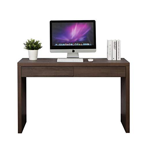 DlandHome Computertisch Schreibtische mit 2 Schubladen 120L * 40W * 75H cm Konsolentisch Beistelltisch Holz und Metall,für den Eingang, Wohnzimmer