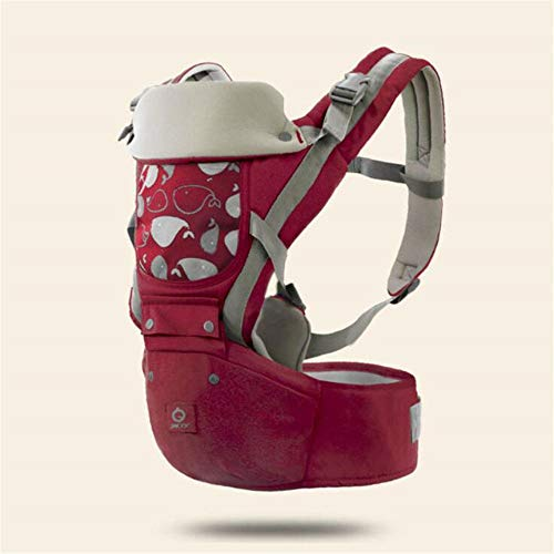Drldby 0-36M Zaino Ergonomico Marsupio Sciarpa Faccia A Faccia di Canguro Avvolgere per Bambino da Viaggio Sgabello Vita Bassa, Rosso