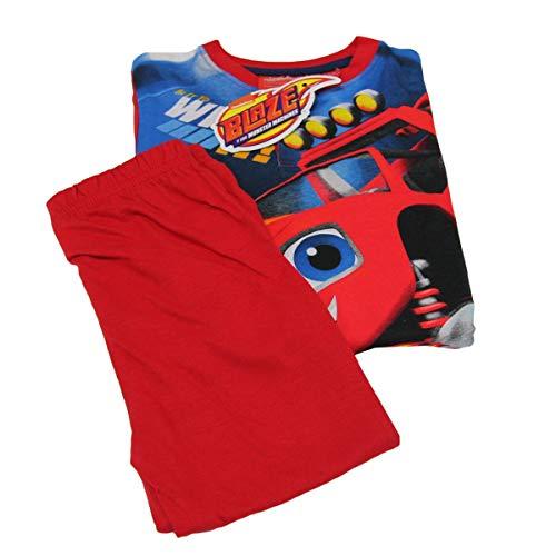 Pigiama bimbo tuta bambino sun city blaze blu rosso 100% macchinina cotone -rosso-8 anni