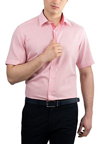 ETERNA Kurzarm Hemd MODERN FIT strukturiert Rot