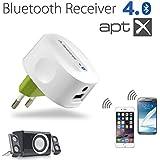 Avantree Hi Fi Bluetooth Adapter Bluetooth 4.0 | Stereo Wireless Empfänger | Unterstützt 2 Geräte | Ladefrei | aptX für High Quality Music - Roxa