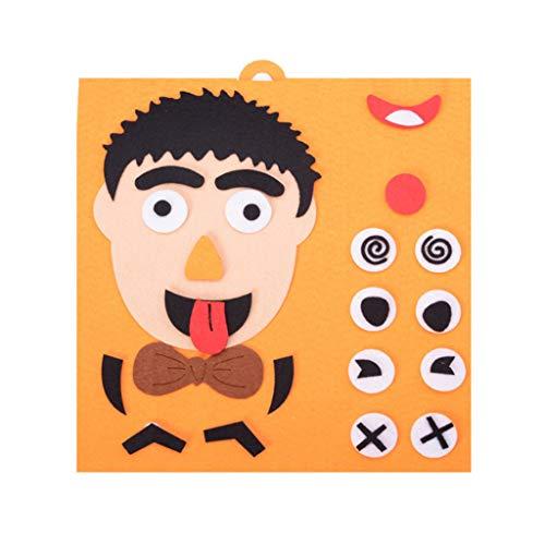 Juguetes educativos para niños,CHshe❤❤,Divertidos niños Educación temprana, Puzzle de expresión facial, Juguetes educativos para niños,una experiencia de juego y aprendizaje maravillosa (D)