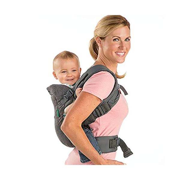 Infantino Flip Advanced 4-in-1 Convertible Baby Carrier, Light Grey Infantino Fully safety tested Carry children from 3.6-14.5 kgs 4