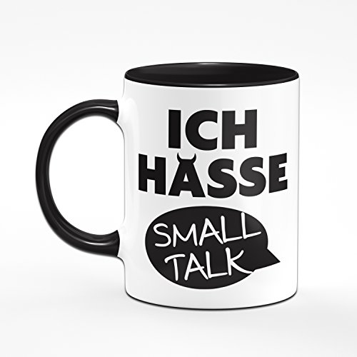 Tasse ICH HASSE SMALL TALK - Kaffeetasse - Geschenk Tasse - Sprüchetasse - 2