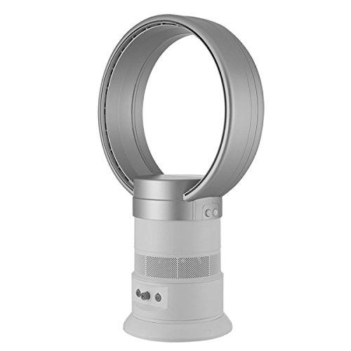 FOKN Mini Ventilateur Sans Ventilateur Muet Télécommande Temps Bureau Petit Ventilateur Pour La Maison Bureau Extérieur Voyage,Silver