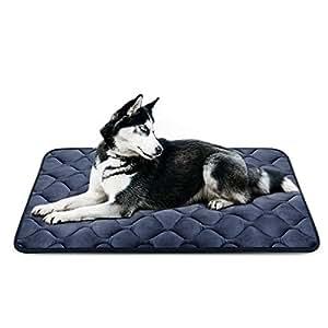 Hero Dog Letto Cuscino per Cani Taglia Grande Lavabile L - Lusso Morbido Tappeto Materasso Antiscivolo Imbottito 107x70 cm