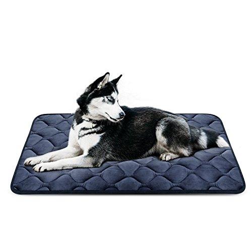 Panier Doux pour Chien, Lit Coussin de Luxe et Durable 107x70 cm, Tapis Antidérapant et Lavable de Chien Hero Dog (Gris, Grande Taille)