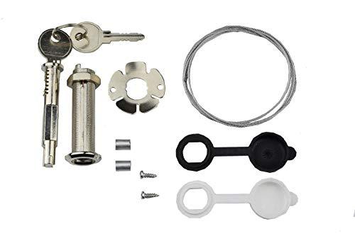 Schartec Universal Notentriegelung für Garagentorantrieb - Notentriegelungsschloss für Sektionaltor bis 40 mm - Einsteckschloss Garagentor - Entriegelung Garage