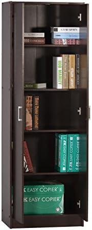 DeckUp Giona Book Shelf and Storage Unit (Dark Wenge, Matte