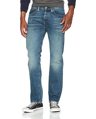 Levi's Herren 501 Original Straight Fit Jeans, W34/L32, Blau (Hook) (Straight Jean Regular Fit)