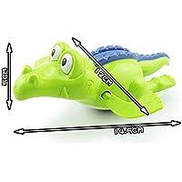 JIUZHOU Mejor Tienda de Juguetes en línea bebé baño Juguete de natación Crocodile Wind Up Reloj de Juego Educativo Juguete para niños