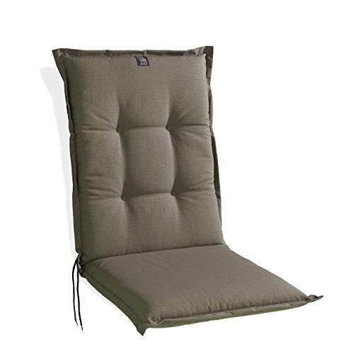 Sesselauflage Sitzpolster Gartenstuhlauflage für Mittellehner TAUPE 5 | 48x110 cm | Baumwolle