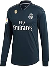 GOLDEN FASHION Non Branded Real Madrid Away KIT 2018-19 Full Sleeve Jersey with Short and with Champion Badge ON Jersey