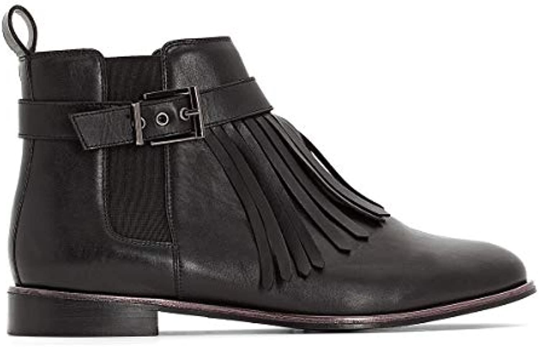 CASTALUNA CASTALUNA CASTALUNA Donna stivali in Pelle con Dettaglio Frangia Pianta Larga 3845 43 | Design Accattivante  | Uomo/Donne Scarpa  14758f