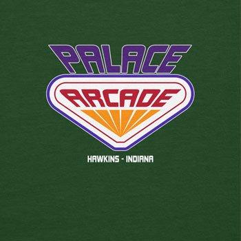 NERDO Hawkins Palace Arcade - Herren T-Shirt Flaschengrün