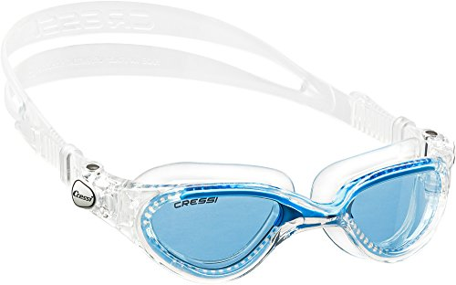 Cressi Flash - Gafas de natación unisex, color transparente / azul royal