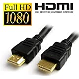 Shopon High Speed HDMI Male To HDMI Male Cable Supports Ethernet, 3D, 4K, 1080p - Black