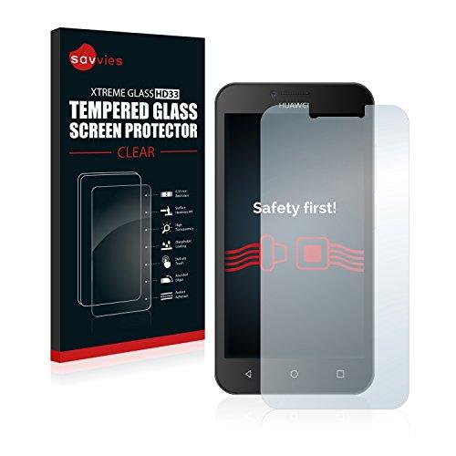 Savvies Vetro Temperato Compatibile con Huawei Y5 2015 Pellicola Prottetiva - Durezza 9H