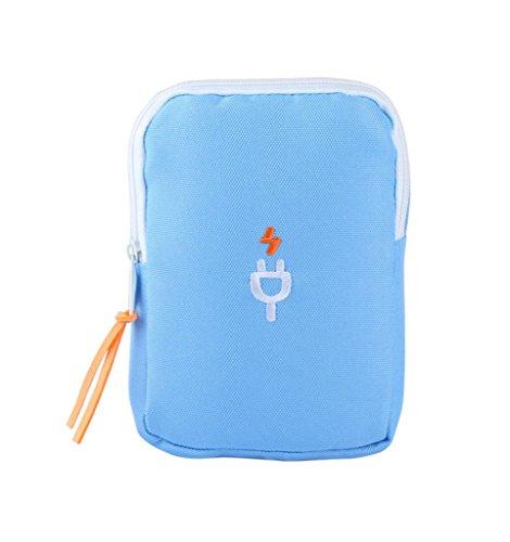 Smile YKK Sport Outdoor Reise Mini Taschen Schutztasche Festplattentasche Speicherkarte Netzkabel Aufbewahrungstasche Weinrot Blau