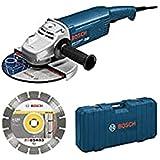 Bosch GWS 22 – 230 JH Ace Professional Meuleuse d'angle 230 mm 2200 W avec disque diamant et valise (0615990dd6)