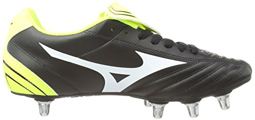 Mizuno Fortuna Sp, Chaussures de Rugby Homme Noir (Black/White/Yellow)