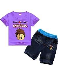 8fac5abb7abb6 Roblox Nouveau costume à manches courtes pour enfants Costume à la mode  Print Summer Suit Short