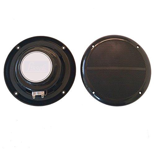 2x Marine Einbau Lautsprecher LISSEK schwarz 100 Watt Sauna Feuchtraum Bad Boot