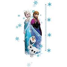 RoomMates RMK2793GC - Pegatinas de pared con medidor, diseño Frozen Elsa, Ana y Olaf