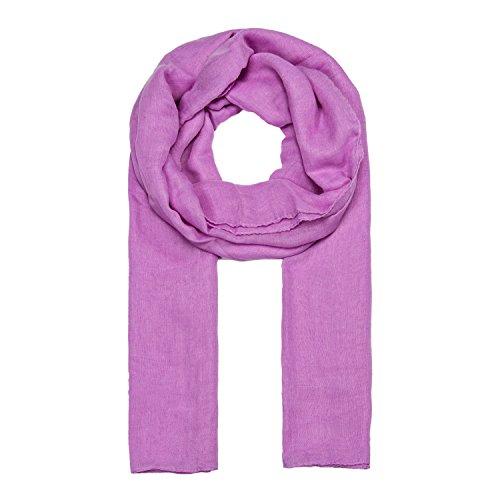 ManuMar Schal einfarbig | Hals-Tuch in Uni-Farben | einfarbig Hell-Lila als perfektes Sommer-Accessoire | klassischer Damen-Schal - Das ideale Geschenk für Frauen