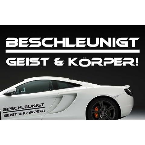Z131'Acelera Espíritu y cuerpo'–Auto divertido Texto en alemán