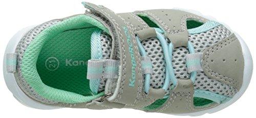 KangaROOS Rock Lite, Chaussures Marche Mixte Bébé Gris (Lt Grey/Lt Turquoise 248)