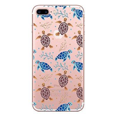 Handy-Hüllen & Hüllen, Fall für Apfel iphone 7 7 plus Fallabdeckung Schildkröte Muster gemaltes hohes penetration tpu Material weicher Falltelefonkasten für ( Kompatible Modellen : IPhone 6s/6 ) (I Phone 5c-schildkröten-fall)