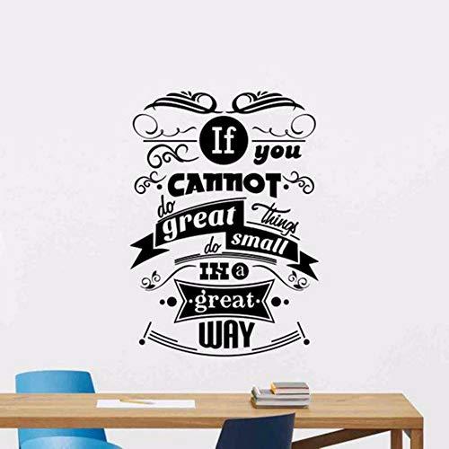 Dwqlx Wenn Sie Nicht Große Dinge Tun Können, Tun Sie Kleine Dinge Auf Großartige Weise Wandtattoo Poster Office Zitat Vinyl Aufkleber Dekor Kunst Wandbild 57 * 81 Cm