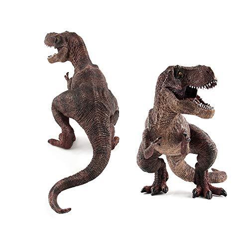 Sipobuy Dinosaurier Tyrannosaurus Rex Spielzeug, große statische Dinosaurier Modell, ideales Geschenk für Jungen Kinder, braun