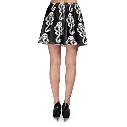 Dark Mark Skater Skirt Rock XS-3XL Black