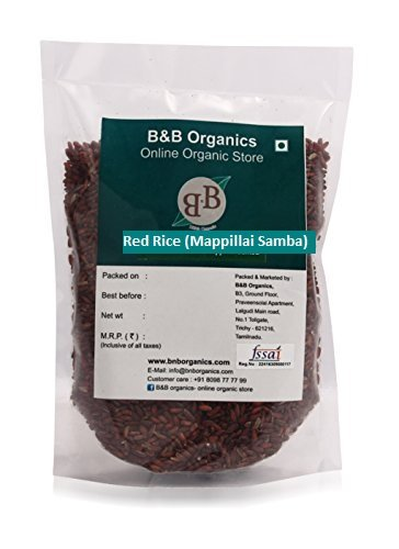 B&B Organics Red Rice (Mappillai Samba – Hand Pounded), 5 kg