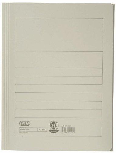 ELBA Aktenmappe 25er Pack 250 g/m² Manilakarton für ca. 150 DIN A4-Blätter grau