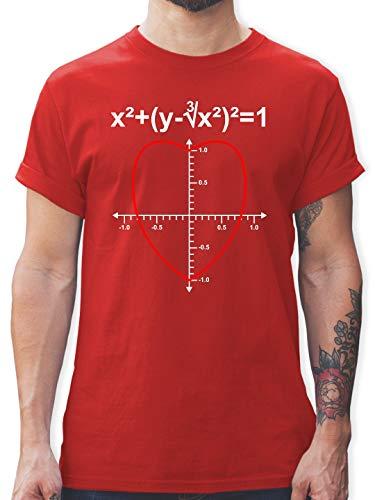 Valentinstag - Mathe Herz - M - Rot - L190 - Herren T-Shirt und Männer Tshirt