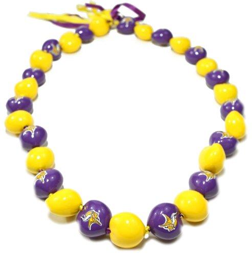 Style Pasifika NFL Minnesota Vikings Go Muttern Kukui Mutter Lei Halskette