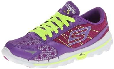 Skechers Womens Go Run 3 Trainers, Purple/Lime, 4.5 UK