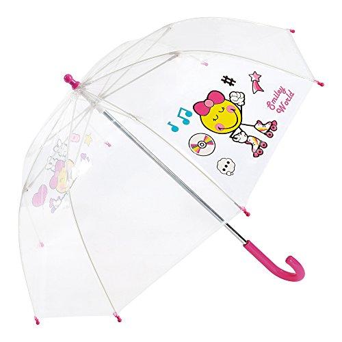 Smiley - Paraguas Infantil Transparente niña - Cúpula
