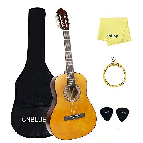 guitarra clásica acústica guitarra KID con Start paquete 4/4 tamaño 39 pulgada