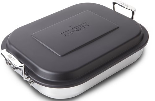All-Clad 59946 Stainless Steel Lasagna Pan with Lid Specialty Cookware, 14.5 by 11.75 by 2.5-Inch, Silver by All-Clad