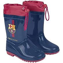 Botas de Agua para Niño Oficial Barcelona Futbol Club - Botines  Impermeables de Barça FCB para 91cab14ee17d4