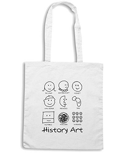 T-Shirtshock - Borsa Shopping T0749 history art politica Bianco